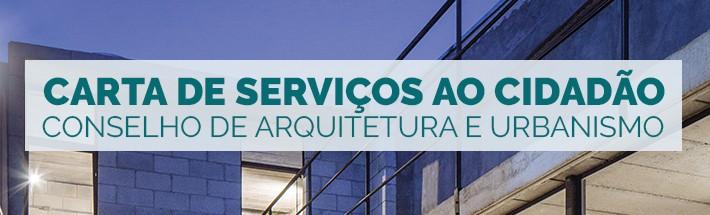 Carta de Serviços ao Cidadão do Conselho de Arquitetura e Urbanismo