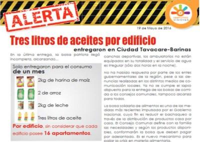 Barinas: Tres litros de aceites por edificio entregaron en Ciudad Tavacare