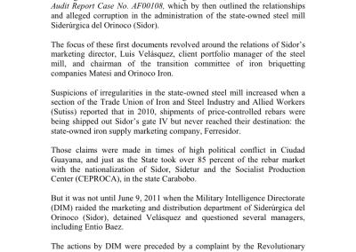 Sidor and the Rebar Trafficking