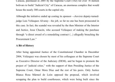 Judicial Corruption: Impunity Lives in Ciudad Lebrún