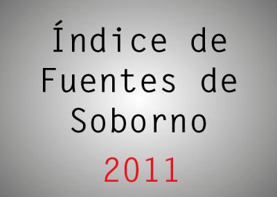 Índice de Fuentes de Soborno (IFS): 2011