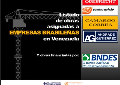 Informe actuación de empresas brasileñas en Venezuela