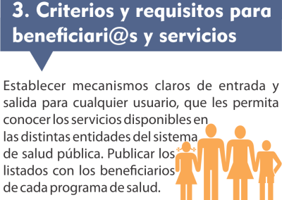 3. Criterios y requisitos para beneficios y servicios