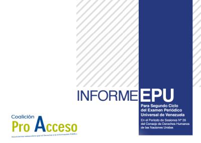 Informe Transparencia Venezuela para EPU 2016 sobre el derecho al acceso a la información