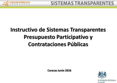 Instructivo: Presupuesto Participativo y Contrataciones Públicas