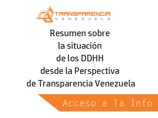 Acceso a la Información desde la Perspectiva de Transparencia Venezuela