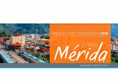 Presupuesto Ciudadano 2016 – Municipio Campo Elías, Mérida