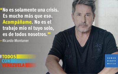 Ricardo Montaner y Human Rights Watch lanzan campaña por Venezuela