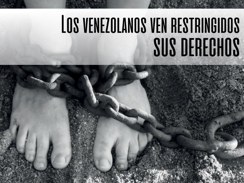 Los venezolanos ven restringidos sus derechos humanos