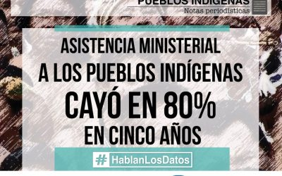 Ministerial assistance to indigenous peoples fell by 80% in five years