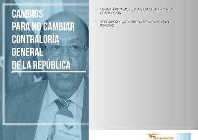 Cambios para no cambiar Contraloría General de la República