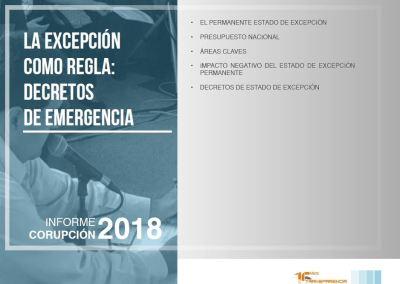 La excepción como regla: decretos de emergencia