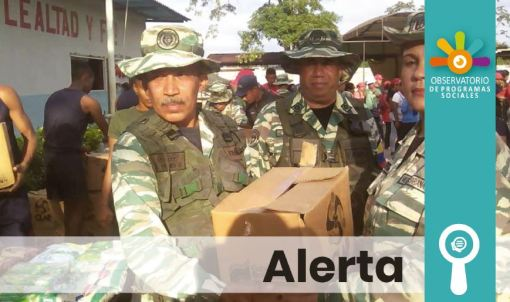 Sistema Seas Patria: una vez más el ejército distribuirá los escasos alimentos