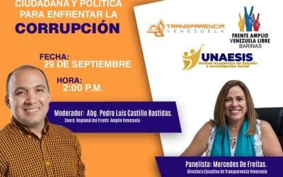 Mercedes De Freitas conversará sobre cultura ciudadana y política para enfrentar la corrupción