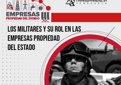 Los militares y su rol en las  Empresas Propiedad del Estado