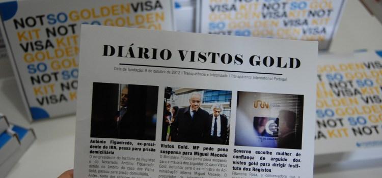 Transparência e Integridade reitera pedido de informações sobre Vistos Gold