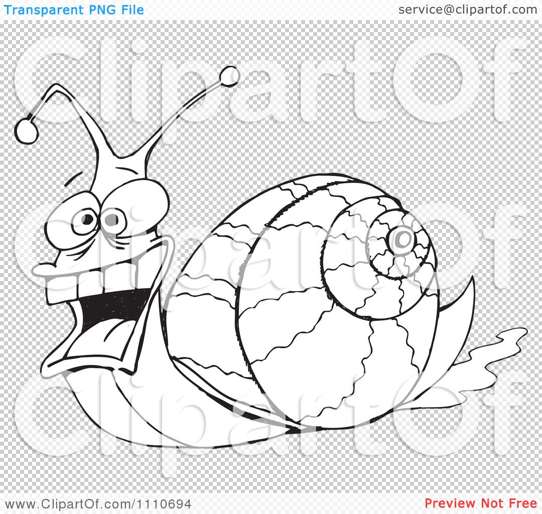 Clipart Black And White Snail