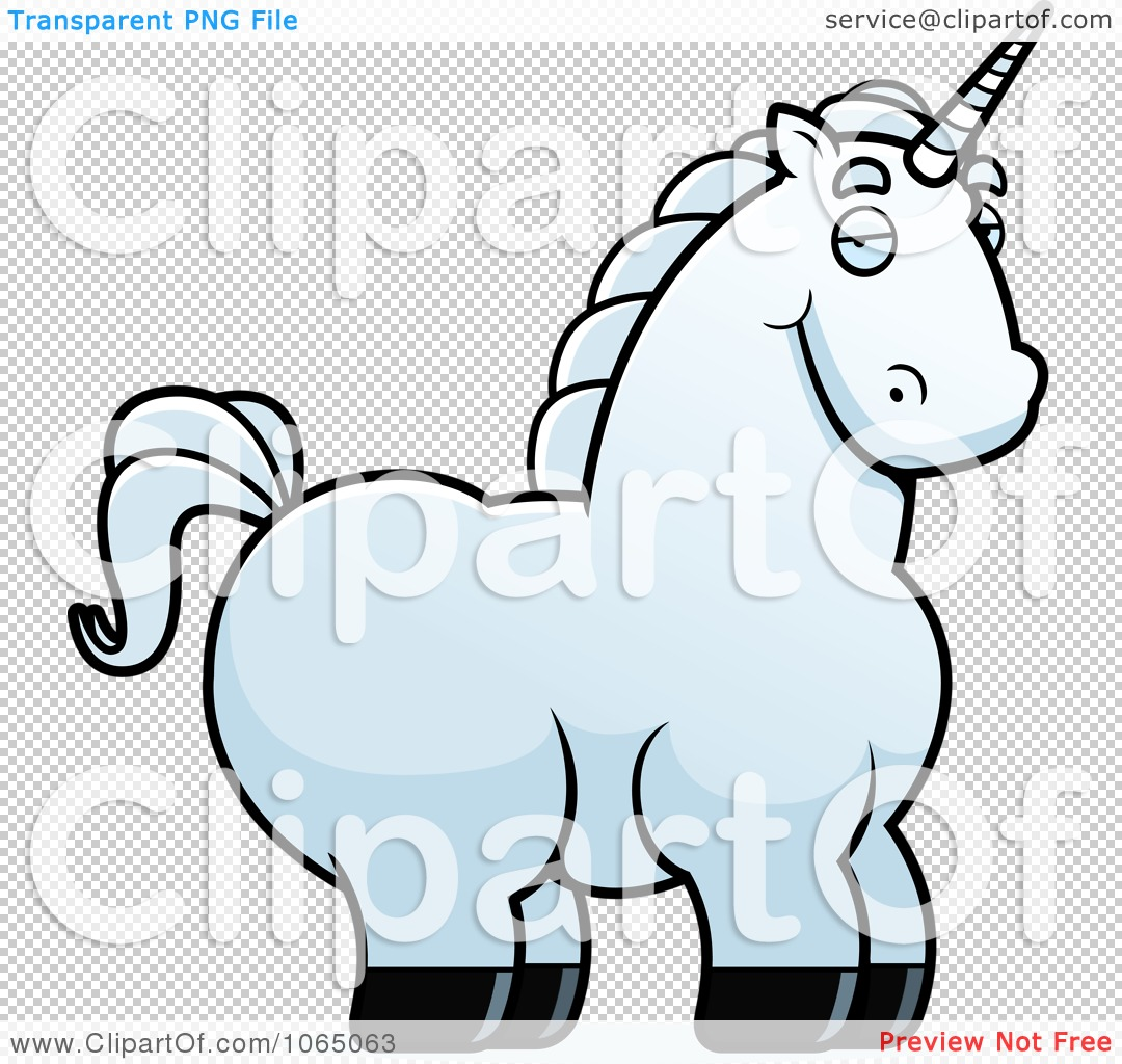 Download Clipart Chubby White Unicorn - Royalty Free Vector ...