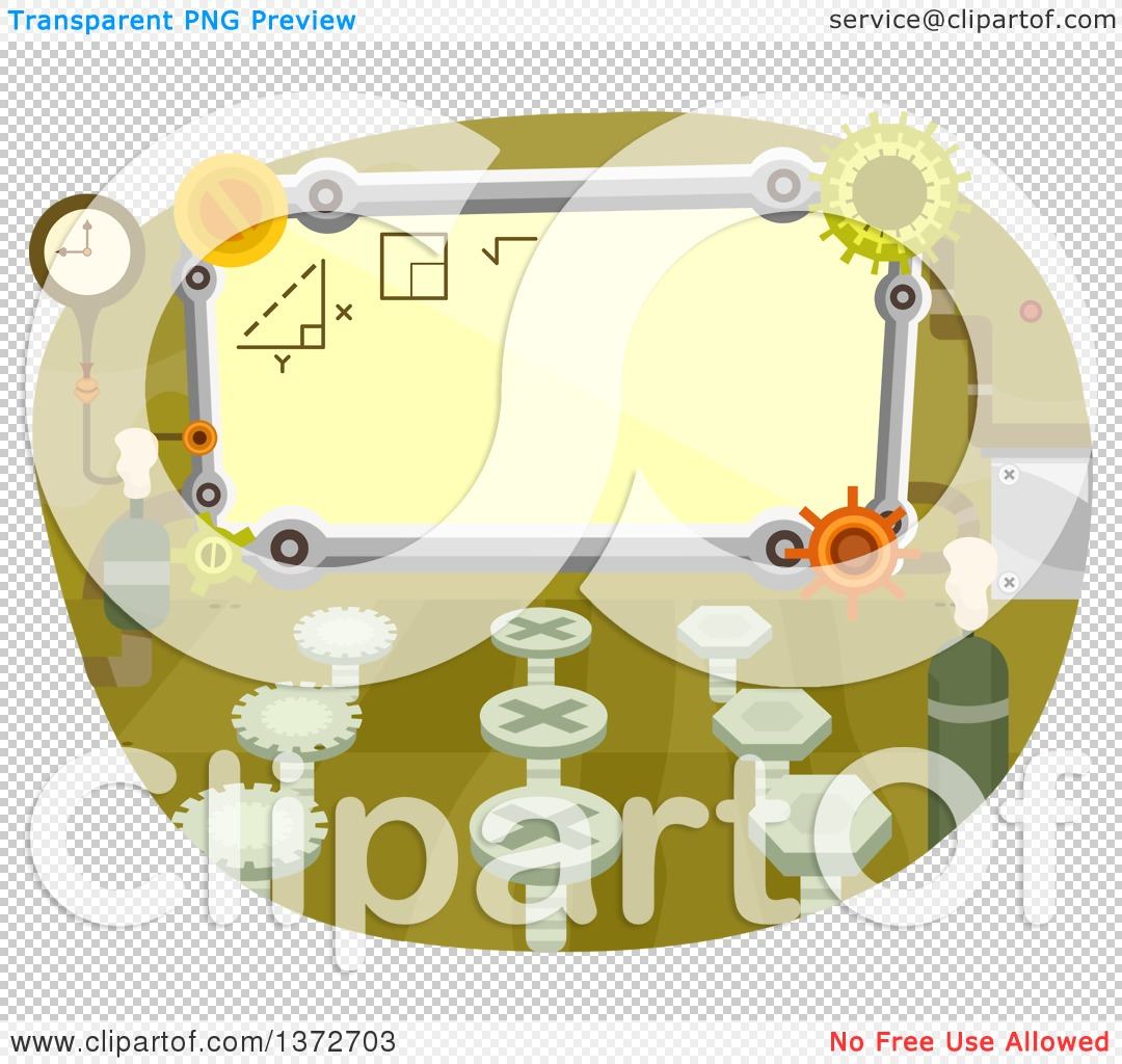 Clipart Of A Classroom With Gear Cog Wheels
