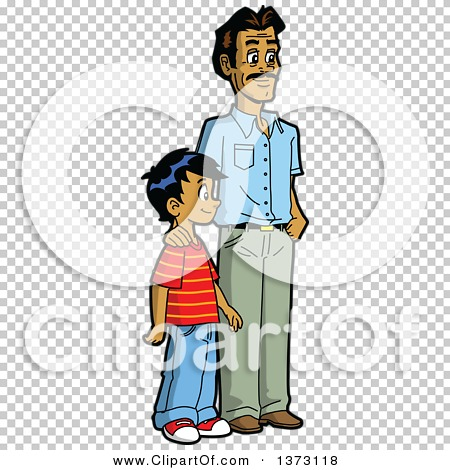 Download Clipart Of A Happy Casual Indian Father and Son Standing ...