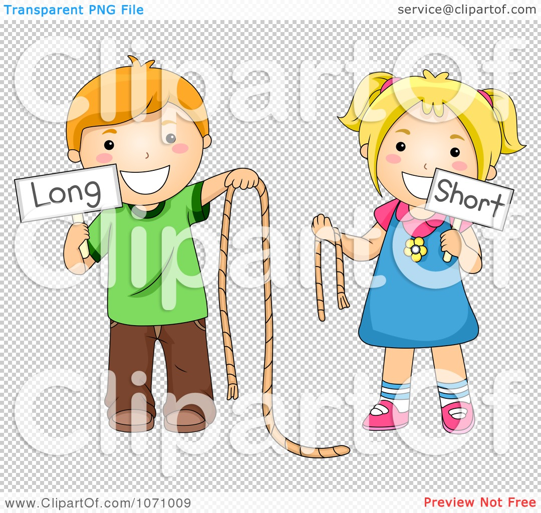 Clipart School Kids Holding Long And Short Ropes And Signs