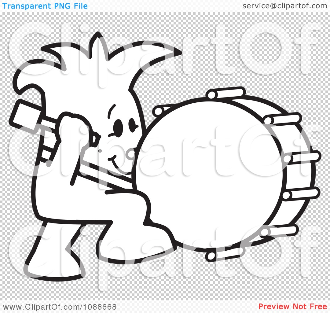 Clipart Squiggle Guy Stuck Beating The Drum