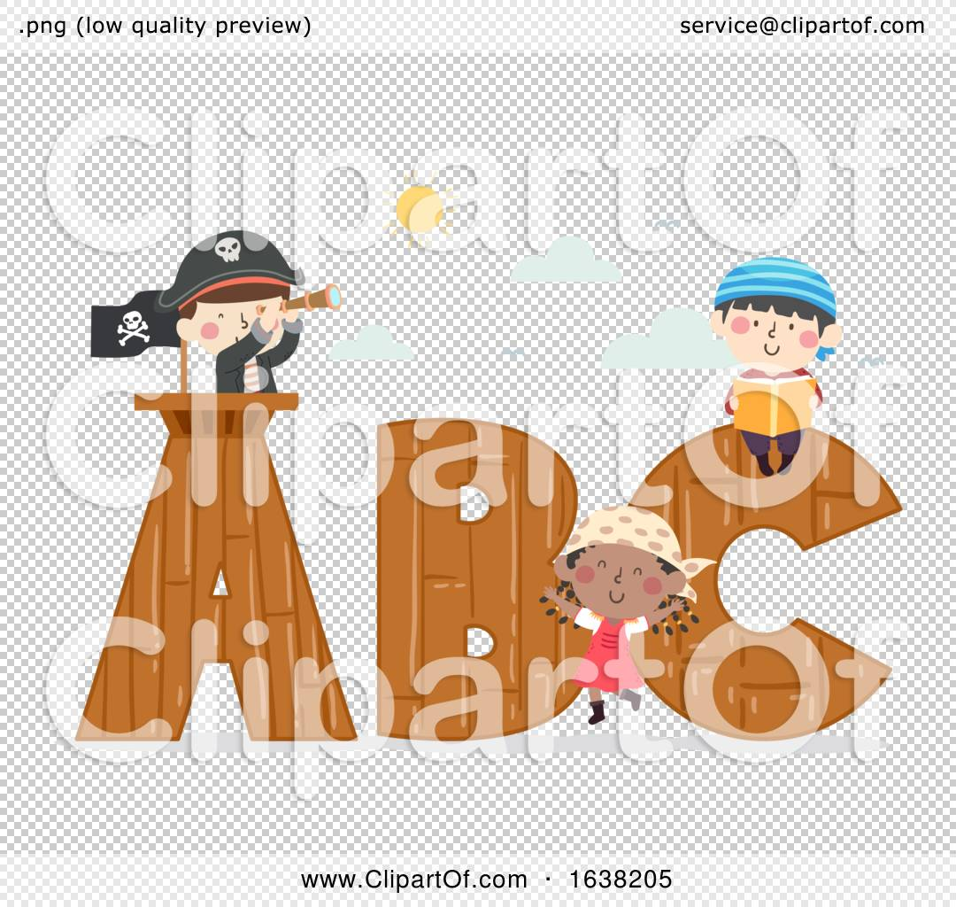 Kids Pirates Wooden Spyglass Book Illustration By Bnp Design Studio