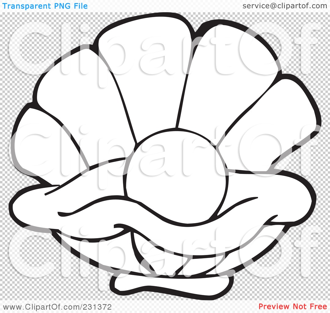 Clam Coloring Pages