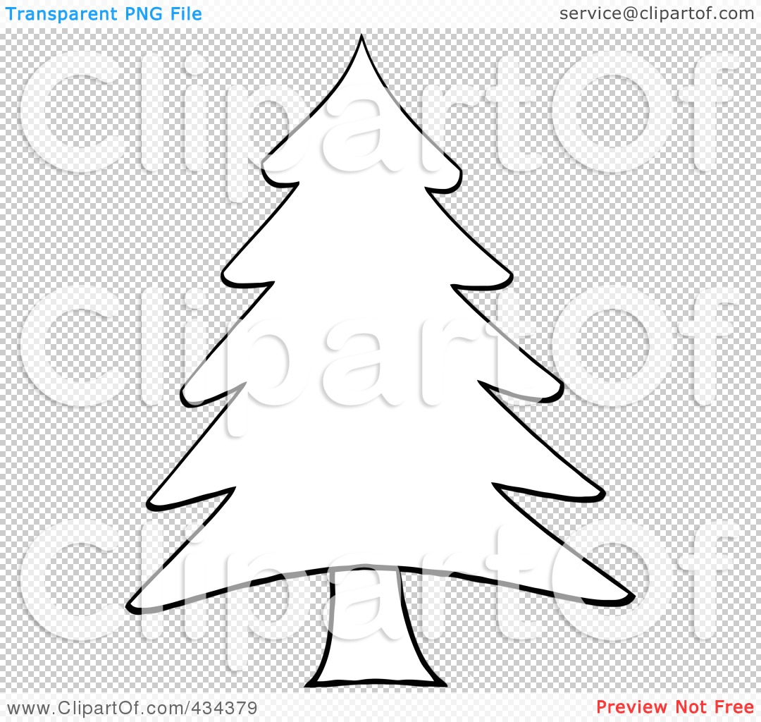 Royalty Free Rf Clipart Illustration Of A Pine Tree