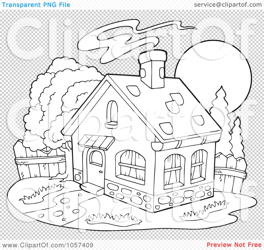 Haunted House Clipart Black And White