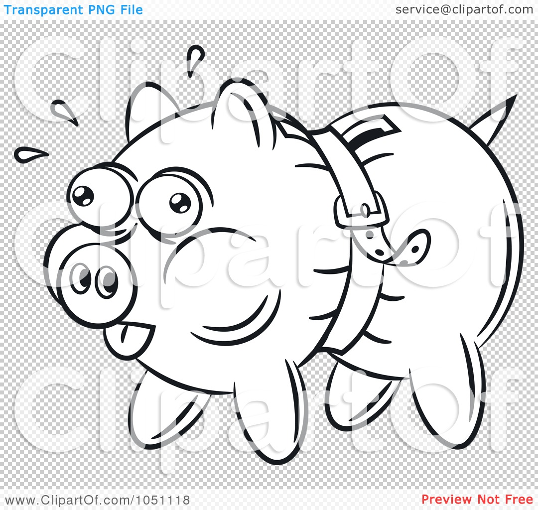 10 Free Printable Piggy Bank Coloring Pages