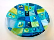 Students Fused Glass Bowl