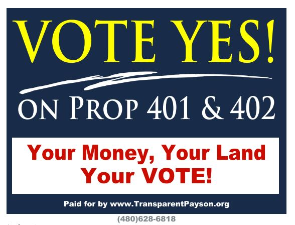 Yes on 401 and 402