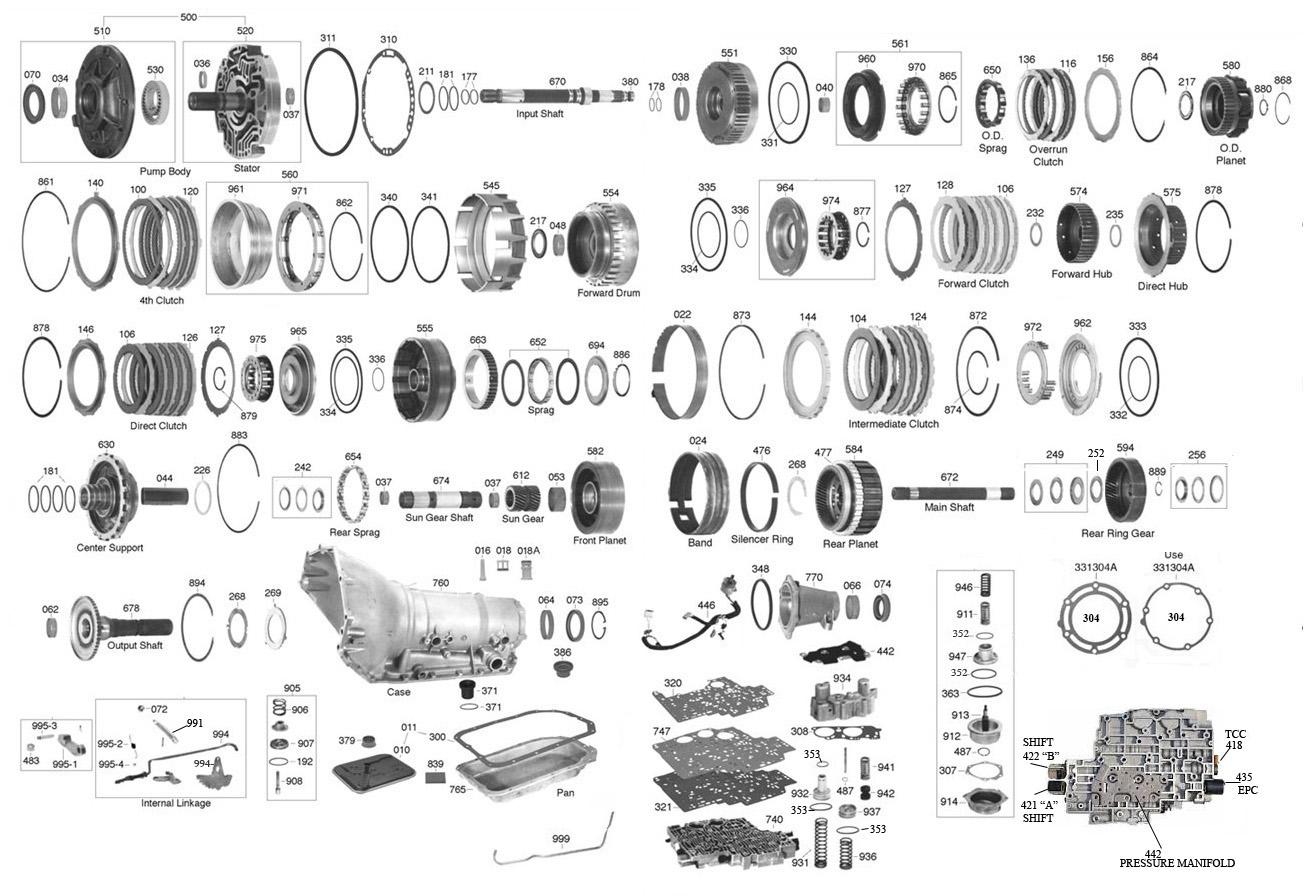 Trans Parts Online 4l80 4l80 Transmission Parts