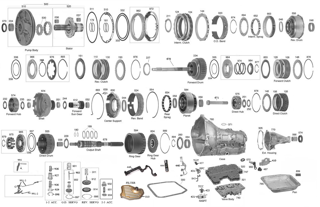 Th400 Valve Body Exploded View