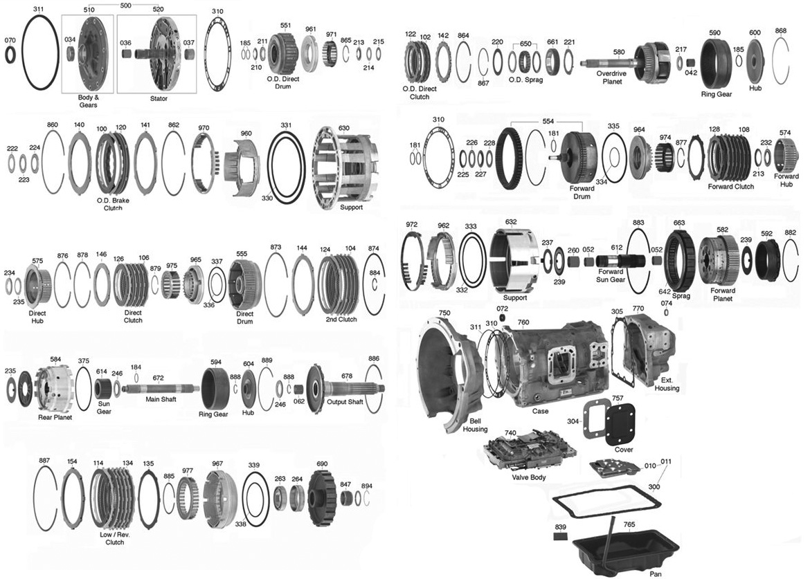 Aw450 Transmission Parts Diagram Trans Parts Online