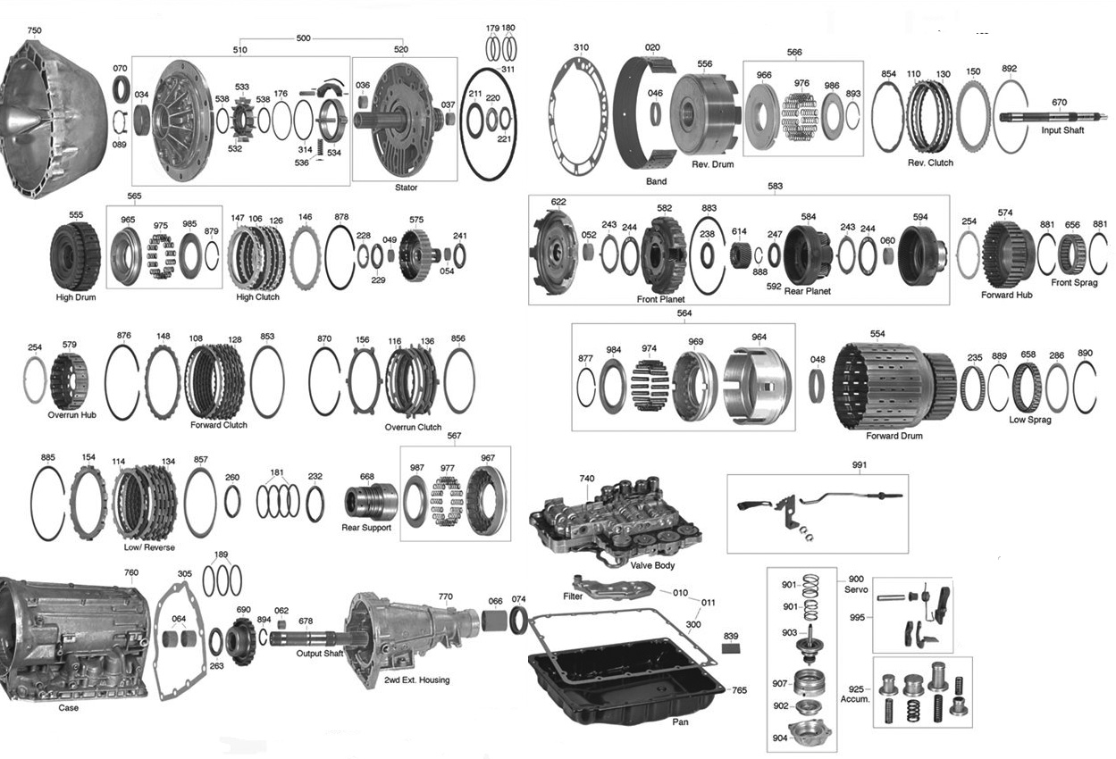 Re4r01 Transmission Parts Diagram Trans Parts Online
