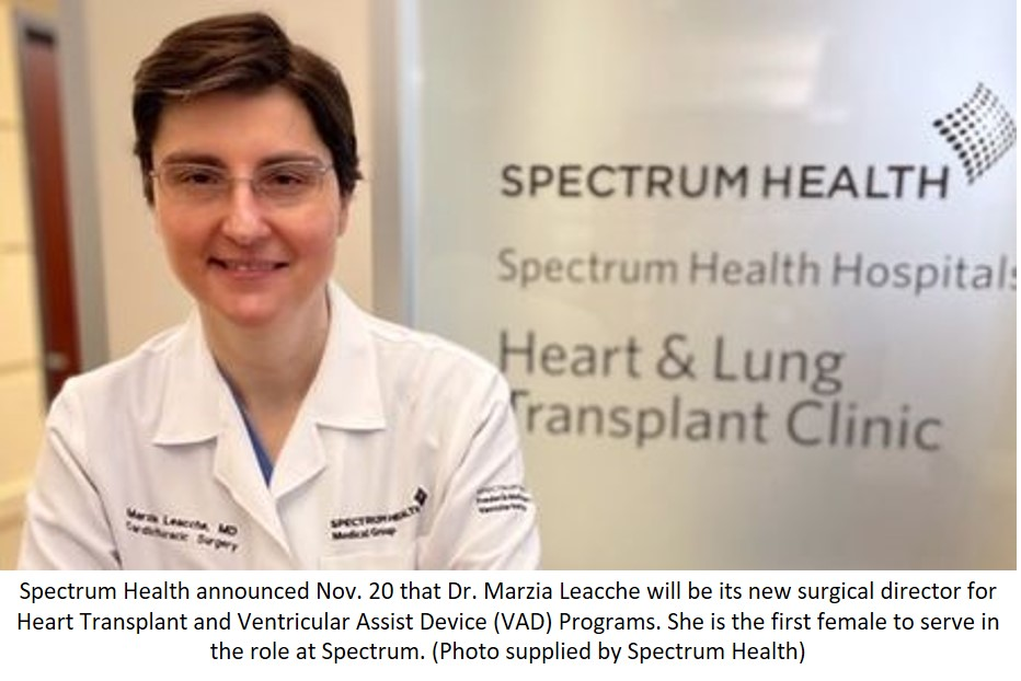 First Female Surgical Director to Lead Spectrum Health's Heart Transplant and VAD Programs