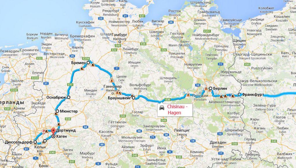 Cursa Chișinău Ucraina Koln Germania Transport Auto