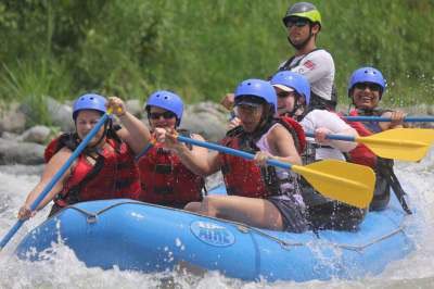 Rafting the Rapids on the Savegre River