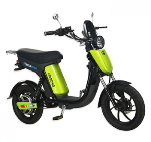 Gigabyke groove electric scooter/moped - lime green and black
