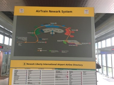AirTrain Newark System Map (towels by the windows on the side)