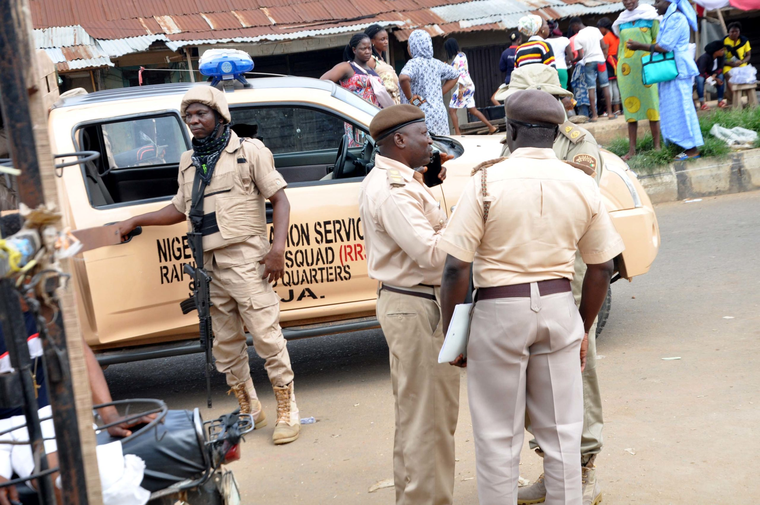 The Nigeria Immigration Service Officers.