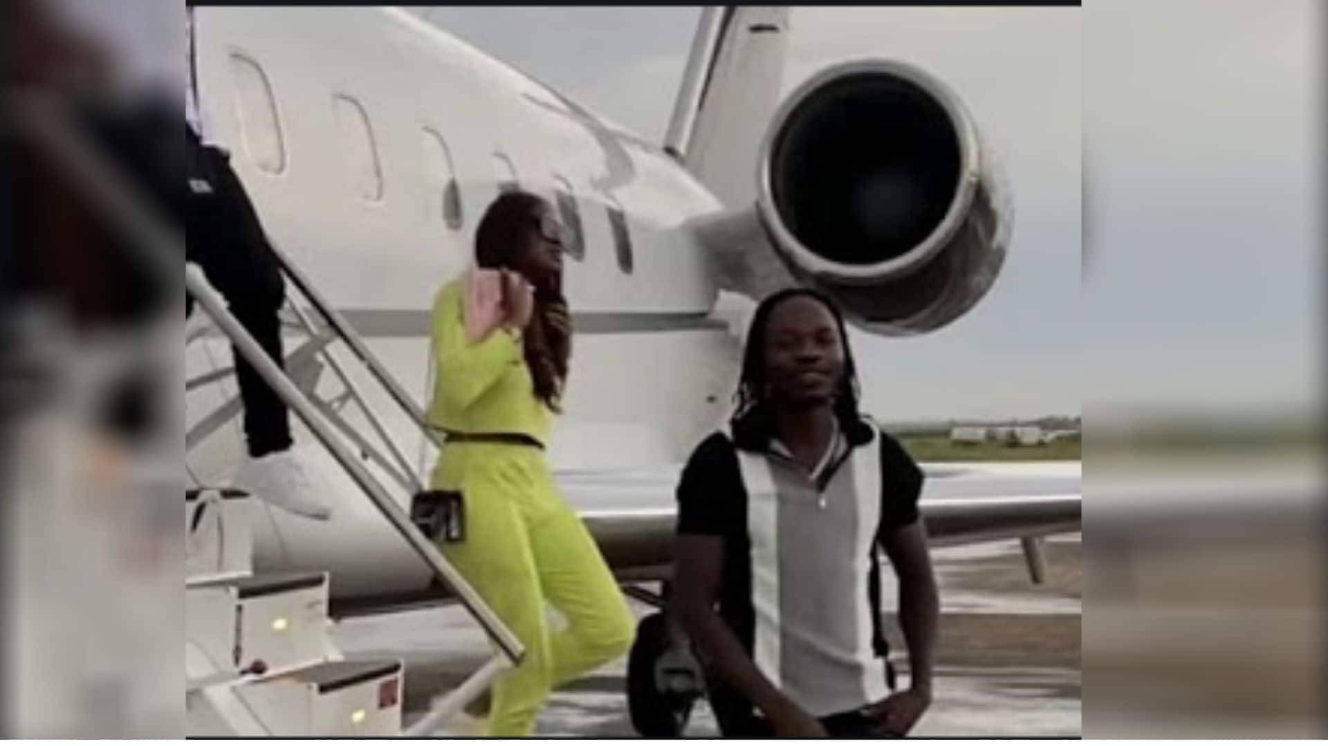 The Executive Jets aircraft which flew Naira Marley.