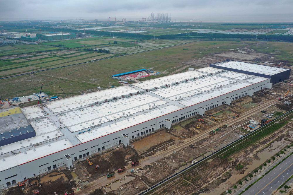 Tesla Gigafactory in China.