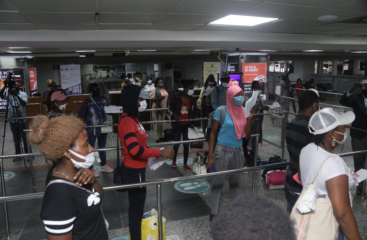 94 Nigerian girls stranded in Lebanon return home