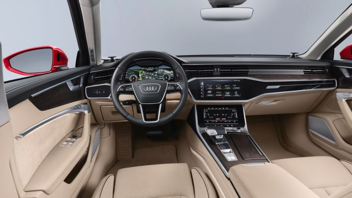 An Audi vehicle using Left Hand Drive.