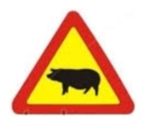 Beware of animals sign