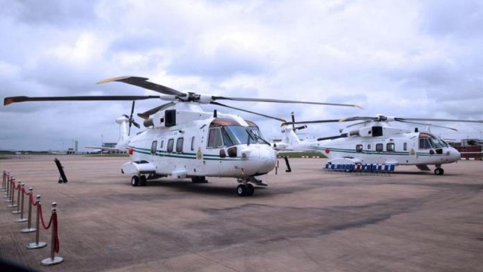 Presidency hands over two AgustaWestland AW101 helicopters to Nigerian Air Force [PHOTOS]