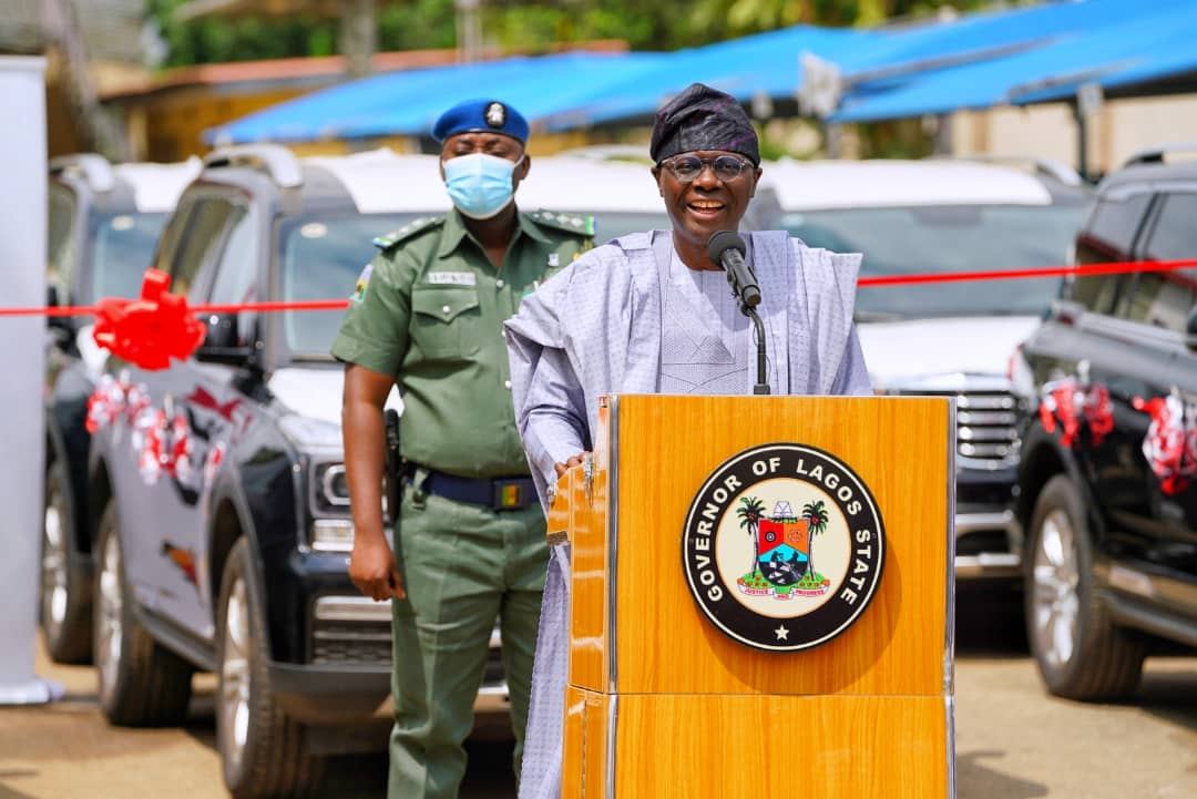 Gov. Babajide Sanwo-Olu during the official presentation.